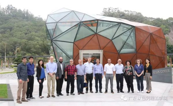 חברי המשלחת בביקורם במכון גואנגדונג טכניון ישראל לטכנולוגיה